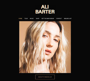 Ali Barter's official home page