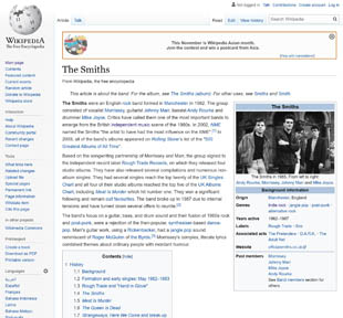 The Smiths Wikipedia page